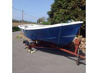 16ft fibre glass fishing/ pleasure boat