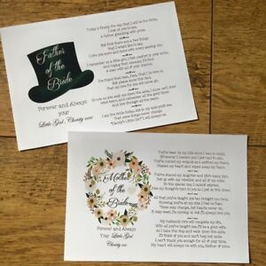 Mother And Father Of The Bride, Groom Gift