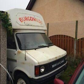 Bedford CF2 burger van/ campervan conversion. 2.0ltr petrol