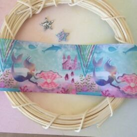 """Pretty Mermaid Design Grosgrain Ribbon 3"""" wide. Hair Bows Cakes, Crafts"""