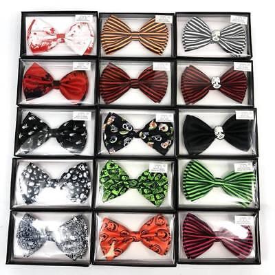 Halloween Bow Ties (Fashion Adjustable Men Pre-tied Bowtie Necktie Halloween Bow Tie Novelty)