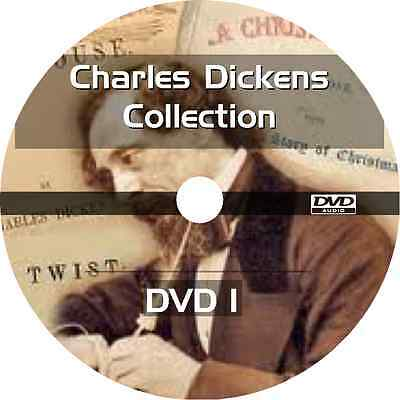 * CHARLES DICKENS BOOKS COLLECTION  * 30+ AUDIOBOOKS + POETRY on 4 DVDs MP3  *