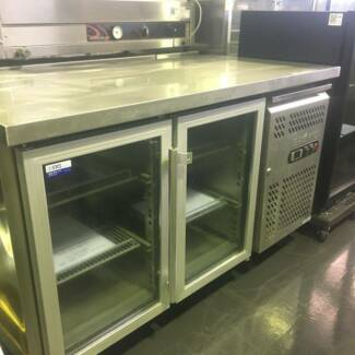 Bromic Two Glass Door Under Bench Fridge GN2100TNG