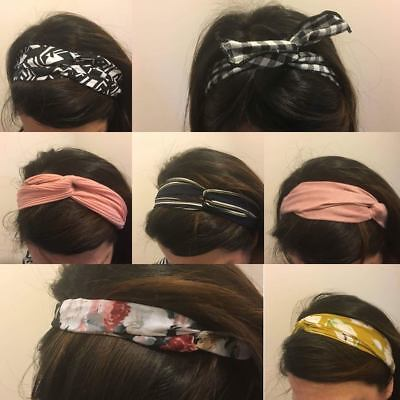 Hair Band Head Wrap Vintage Headband Retro Wired Scarfs Hair Accessories Women