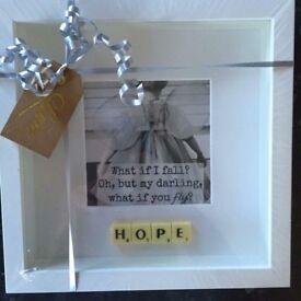 'Hope' Scrabble Frame