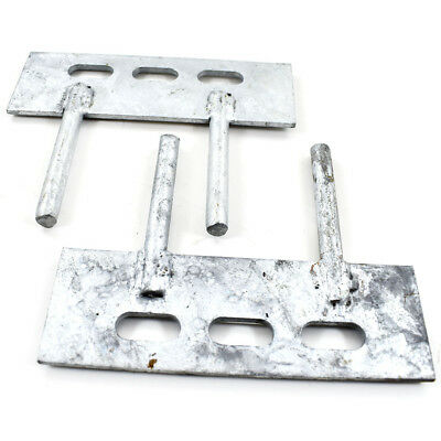 20 PAIRS - 150mm x 50mm GRAVEL BOARD PANEL CLIPS - 2 PIN CLEAT FENCE BRACKETS