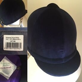 Navy Velvet Gatehouse Hat