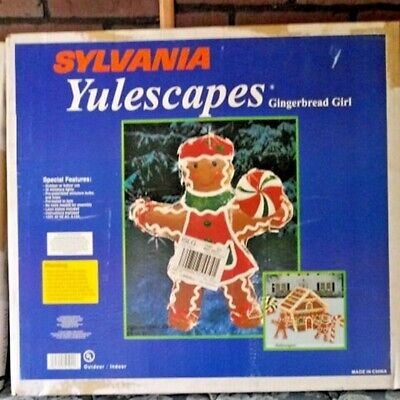 VTG Sylvania YULESCAPES Gingerbread GIRL XMAS DISPLAY Decoration Outdoor Lighted