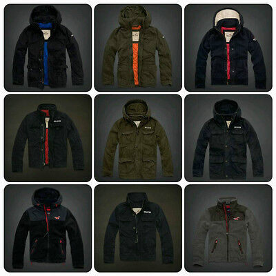 Nwt Hollister by Abercrombie Men's Outerwear Hoodies Jacket Size:S M L XL
