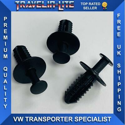 Car Parts - T5 Transporter Front Grille Clips Fixings X3 Great Quality Brand New