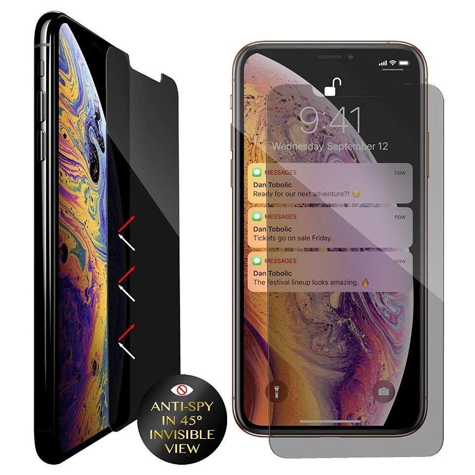 iPhone X XS XR XS Max Privacy Anti-Spy Tempered Glass Scree