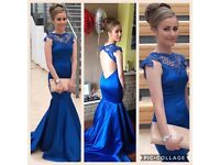 gorgeous royal blue prom dress size 6-8 £100