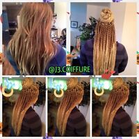 BRAID for caucasiene hair, TRESSES AFRICAINE