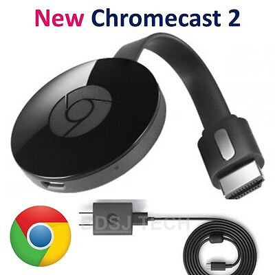 Google Chromecast   Digital Hd Media Streamer 2  Latest Model   New Retail Box