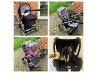 Mamas and Papas Sola travel system £120 for all collection from Shepshed.