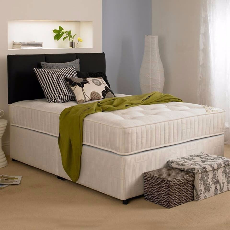 DOUBLE & SMALL DOUBLE DIVAN BED SEMI ORTHOPAEDIC MATTRESS SINGLE AND KINGSIZE DIVAN BED AVAILABLE