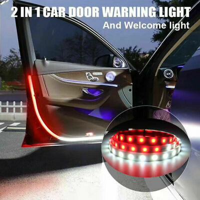2PCS LED Car Open Door Warning Strip Light Universal Belt Atmosphere Lamp USA