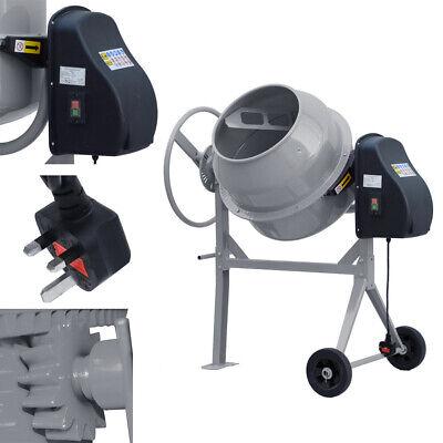 550W 140L Electric Cement Mixer – Portable Mortar Plaster Concrete Drum