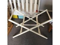 Moses basket stand cream