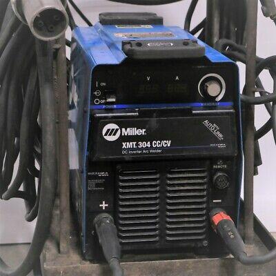 Miller Xmt 304 Cccv W Auto-link Dc Inverter Arc Welder W Cart