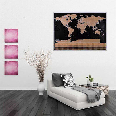 Scratch Off Journal World Map Personalized Travel Poster &Country Flags 42*30cm