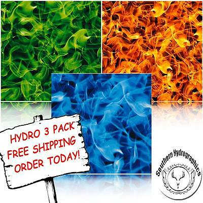 Hydrographic Film Water Transfer Printing Film Hydro Dip Flames Hydro 3 Pack