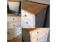 Pine dresser drawers unit shabby chic