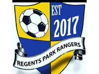 Regents Rangers, Football Players required for Sunday league Team