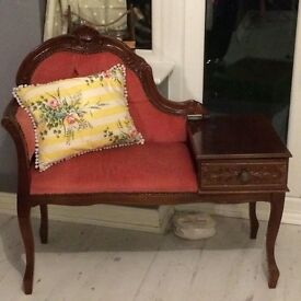 antique shabby chic telephone table REDUCED!!!!