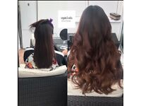 Beautiful Hair Extensions -mobile, same day apps, no heat, no glue, no damage x