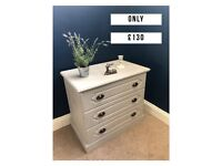 Paris Grey Chest of drawers (3 Deep Drawers) DELIVERY AVAILABLE