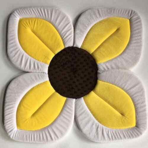 Blooming Bath Lotus Baby Bathing Mat Cushion Flower Yellow