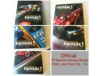 Official Formula 1 season review hardcover books