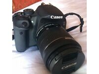 Canon 700d DSLR (Barely Used w/ Box + 18mm lens)