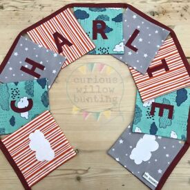 Handmade, personalised bunting. From 1.50