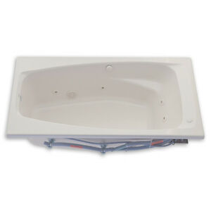 American Standard EverClean Whirlpool Tub Drop-In / Reversible Drain in White