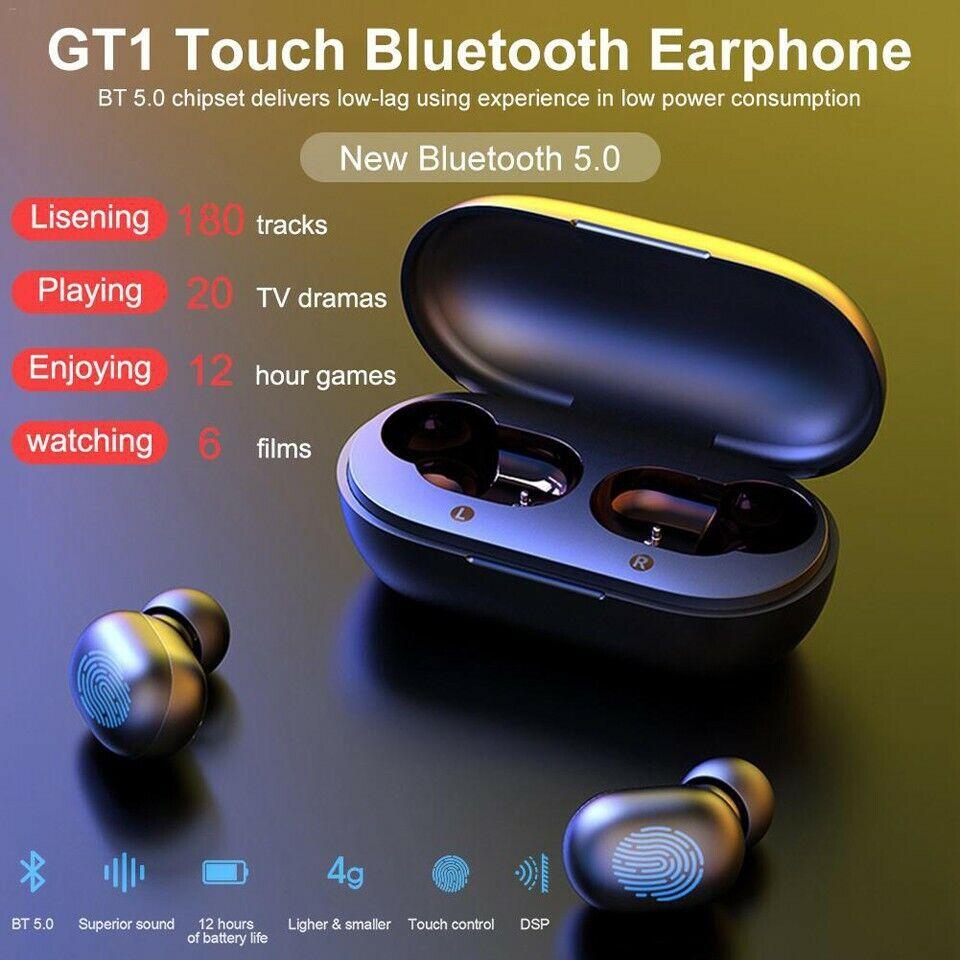 Haylou GT1 TWS Fingerprint Touch Bluetooth Earphones, HD Ste