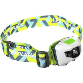 SHINING BUDDY 200 LATEST HALO FACED LED HEAD LAMP RED & WHITE LIGHT WHITE GREEN