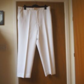 Genuine Gents White Bowling Trousers