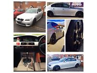 For sale: 2005 (55 plate) BMW 535D M sport. Silver, idrive, full leather, heated seats, sat nav