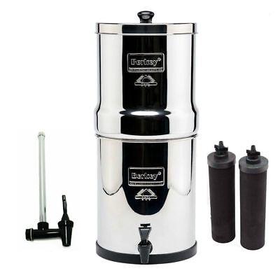 "Make a trip Berkey Water Purifier System w/2 Black Filters & 7.5"" Water View Spigot"