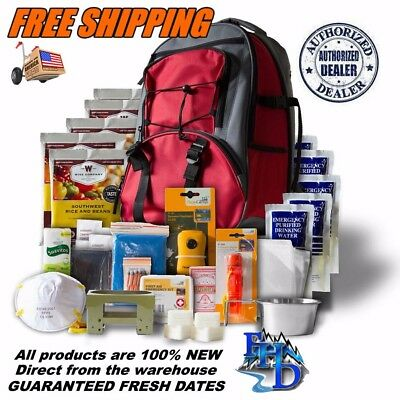 Wise Company ~ 5 Day Survival Back Pack Bug out Bag Emergency Food ~ RED