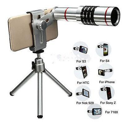 18x Zoom Telescope Camera Telephoto Lens Kit & Tripod for Universal Mobile Phone