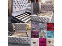 *GALAXY CRUSHED VELVET BEDS**EXPRESS DELIVERY*MADE IN UK*CALL 07424775152 *