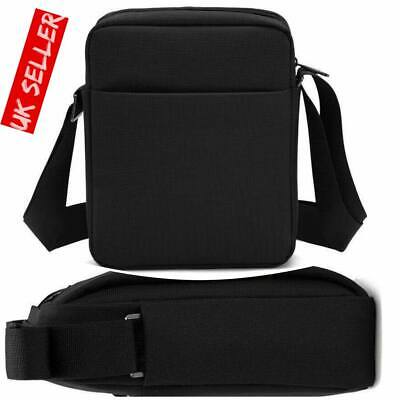 Men's Black Messenger Bag Waterproof Cross Body Shoulder Utility Travel Work