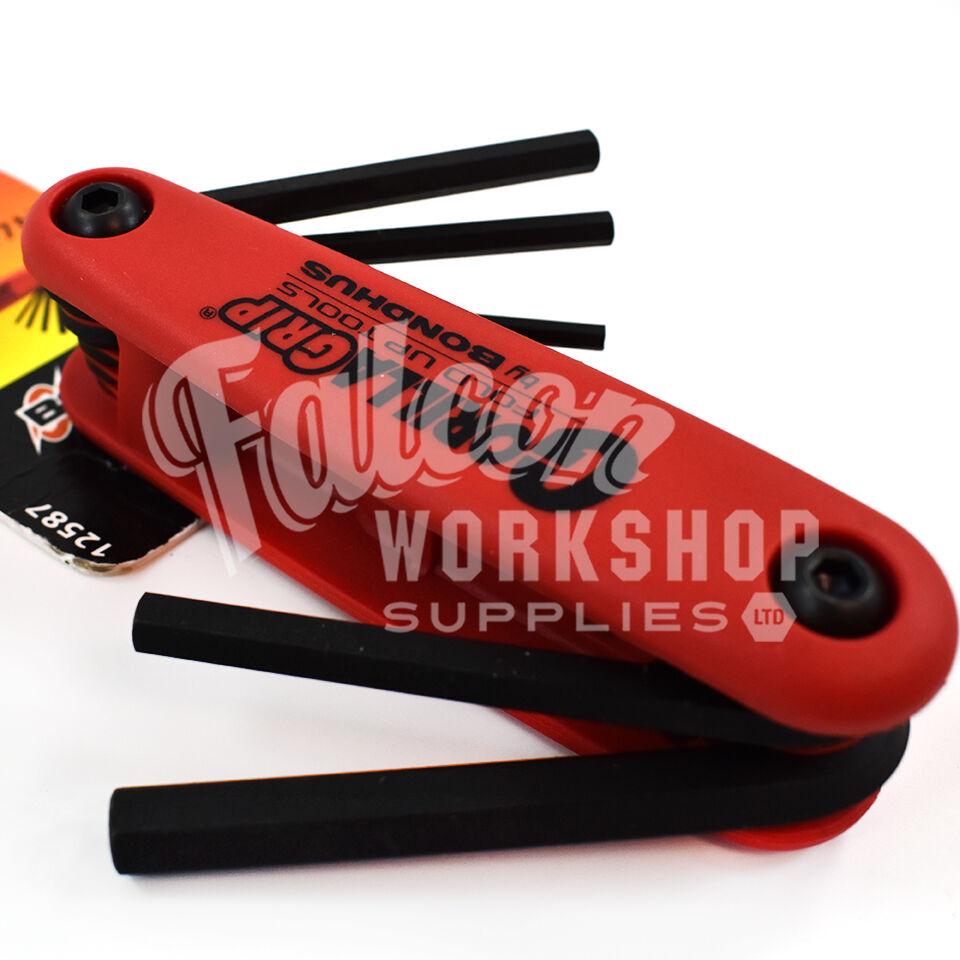 Bondhus Gorilla Grip Hex Fold Up Wrench Set Metric MM 1.5-6mm MADE IN USA 12592