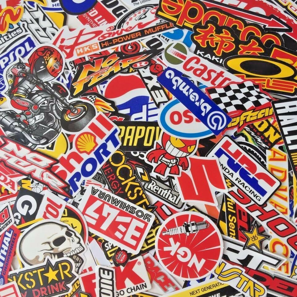 MIXED RANDOM STICKER DECAL BIKE RACING CAR ATV  HELMET MOTORCROSS DIRT
