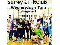Surrey £1 fit club