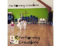 Performing Creations: Dance Classes Ballet 3+ Contemporary 9+ Street Dabce 6+ Jazz kids 3+ adult 18+