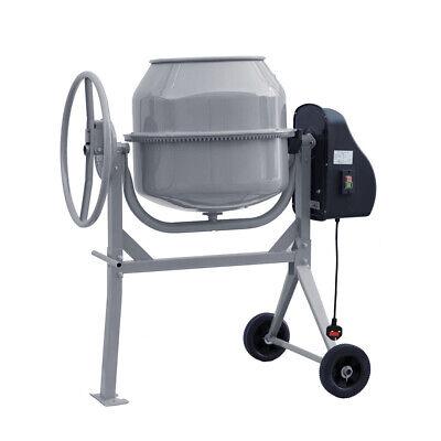 Electric Cement Mixer 120 Litre Portable Concrete Mortar Mixing Machine